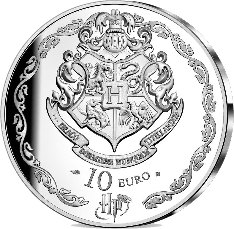 Франция монета 10 евро Гарри Поттер, аверс