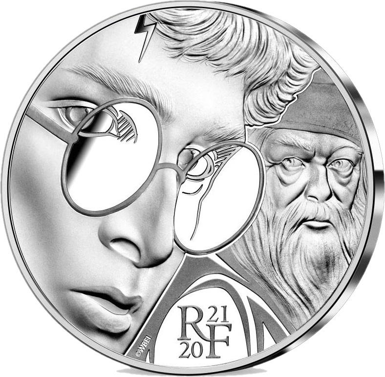 Франция монета 10 евро Гарри Поттер, реверс