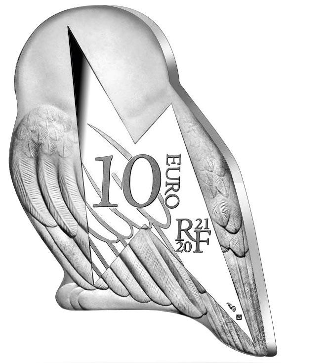 Франция монета 10 евро Сова Хедвиг, аверс