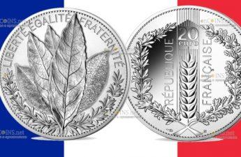 Франция монета 20 евро Лавр