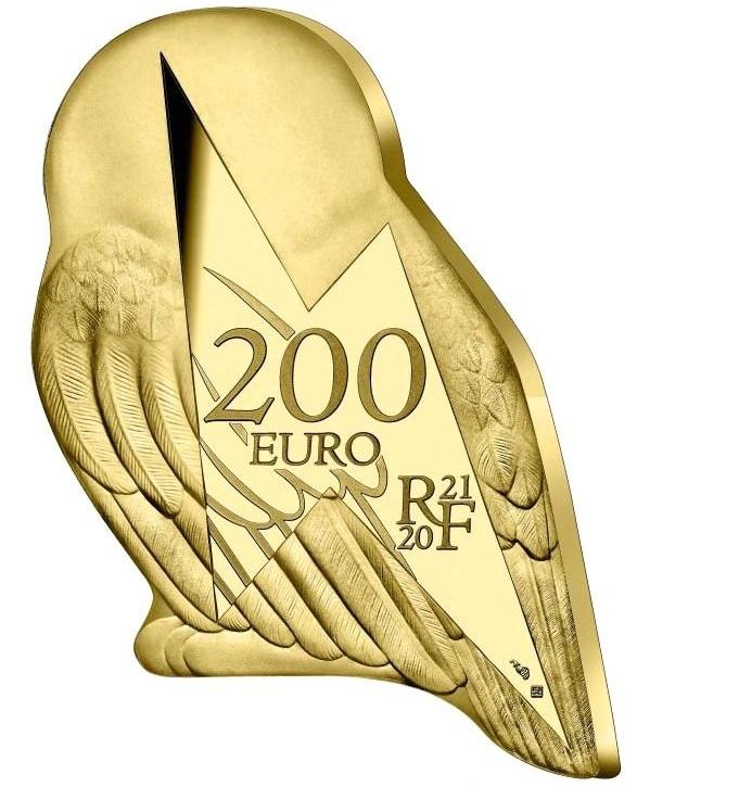 Франция монета 200 евро Сова Хедвиг, аверс