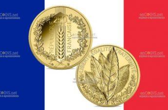 Франция монета 250 евро Лавр