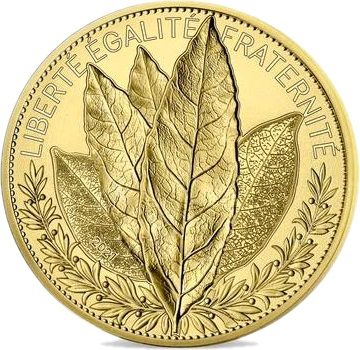 Франция монета 250 евро Лавр, реверс