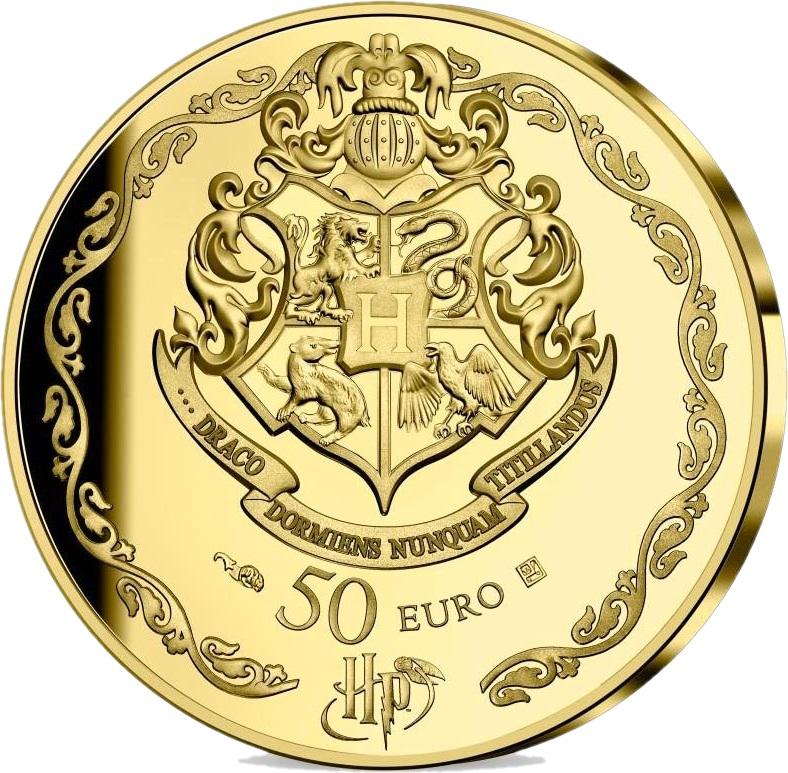 Франция монета 50 евро Гарри Поттер, аверс