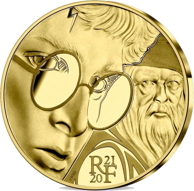 Франция монета 50 евро Гарри Поттер, реверс