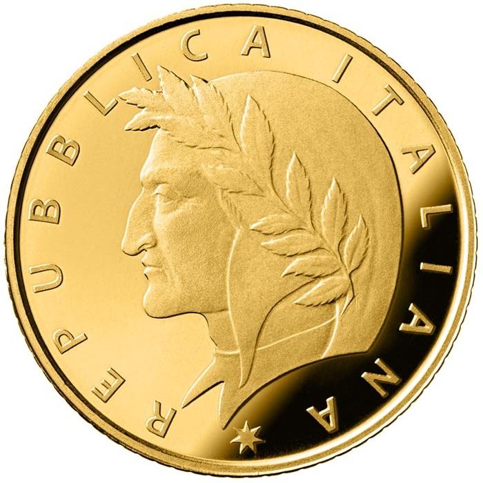 Италия монета 20 евро Данте Алигьери, аверс