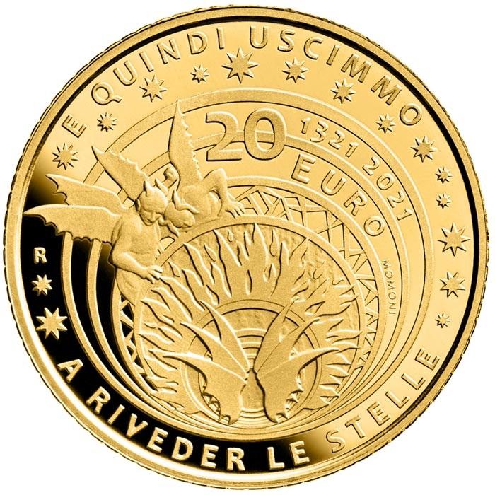Италия монета 20 евро Данте Алигьери, реверс