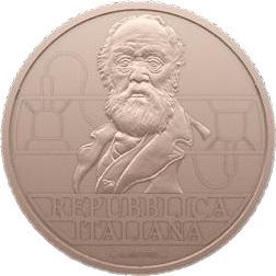 Италия монета 5 евро Антонио Меуччи, аверс