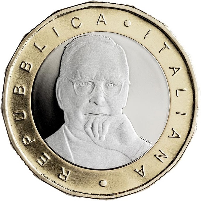 Италия монета 5 евро Эннио Морриконе, реверс