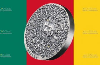 Камерун монета 10000 франков Божественная комедия