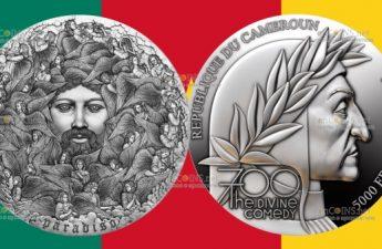Камерун монета 5000 франков Божественная комедия