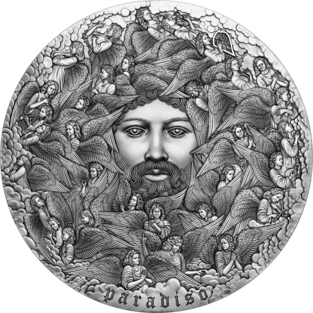 Камерун монета 5000 франков Божественная комедия, реверс