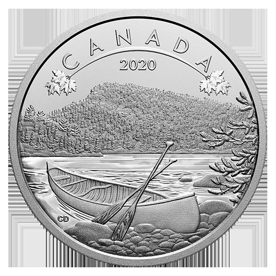 Канада монета 10 долларов Природные просторы, реверс