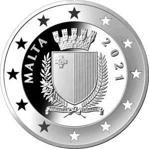 Мальта монета 5 евро Мальта 2021 год, аверс