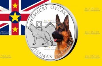 Ниуэ монета 1 доллар Немецкая овчарка