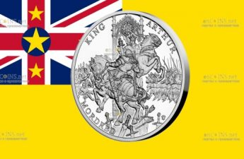 Ниуэ монета 1 доллар Сэр Мордред