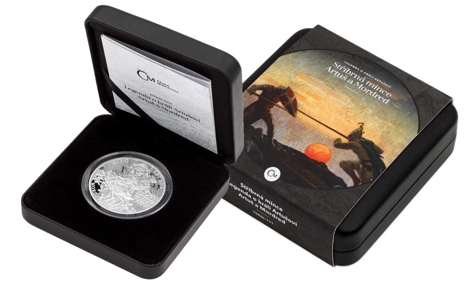 Ниуэ монета 1 доллар Сэр Мордред, подарочная упаковка