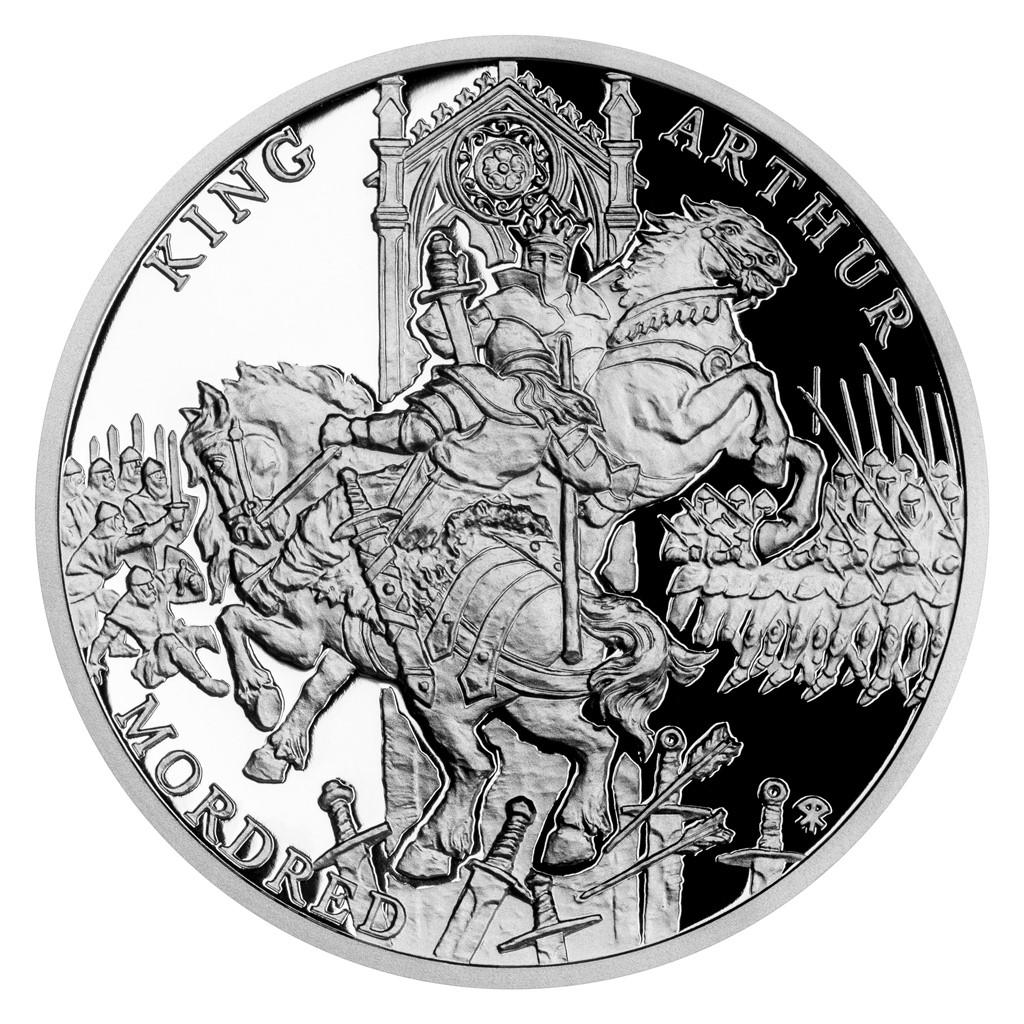 Ниуэ монета 1 доллар Сэр Мордред, реверс