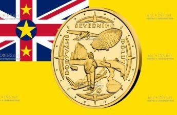 Ниуэ монета 10 долларов Полярники