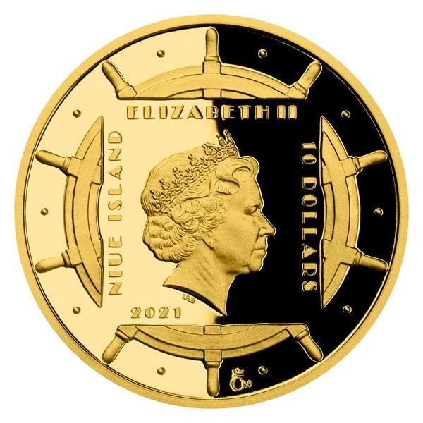 Ниуэ монета 10 долларов Полярники, аверс