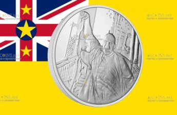 Ниуэ монета 2 доллара Лорд Волан-де-Морт