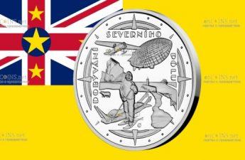 Ниуэ монета 2 доллара Полярники