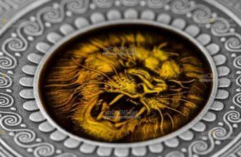 Ниуэ монета 5 долларов Марс и Арес
