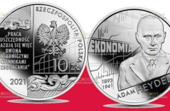 Польша монета 10 злотых Адам Хейдел
