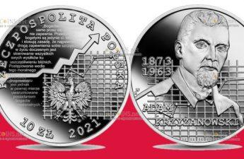 Польша монета 10 злотых Адам Кшижановский