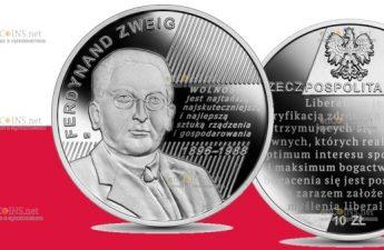 Польша монета 10 злотых Фердинанд Цвейг