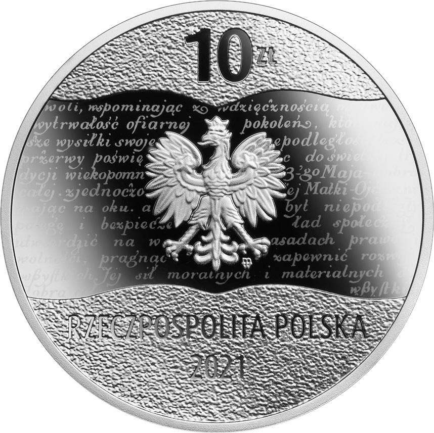Польша монетау 10 злотых 100 лет Мартовской конституции, аверс