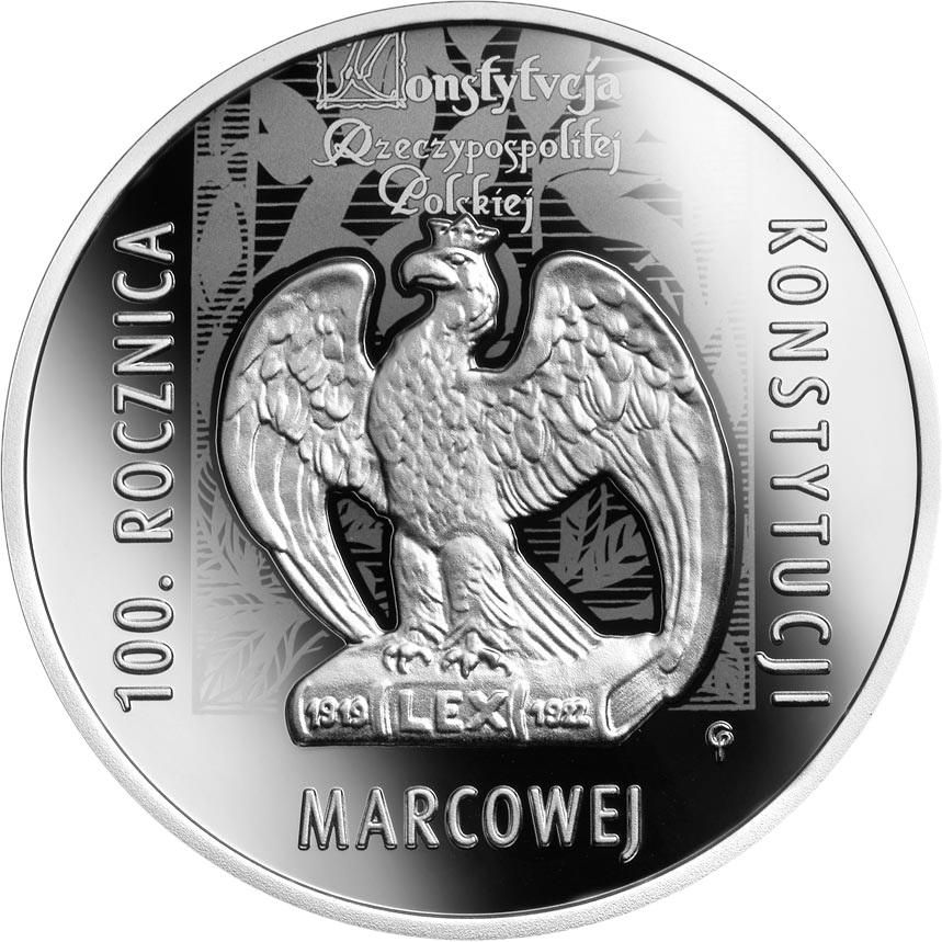Польша монета 10 злотых 100 лет Мартовской конституции, реверс