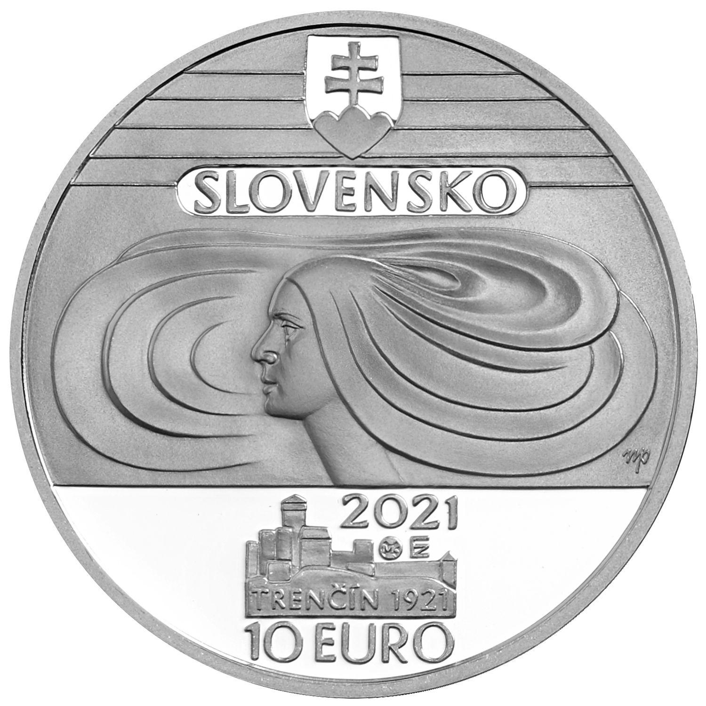Словакия монета 10 евро 100-летие Словацкого хора учителей, аверс