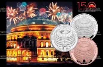 Соединенное Королевство отчеканило монеты к 150-летие Королевского Альберт-холла
