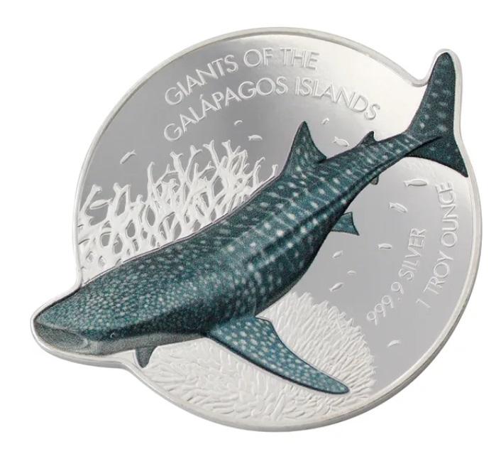Соломоновы острова монета 2 доллара Китовая Акула, реверс
