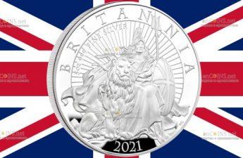 Великобритания монета 10 фунтов 2021 год