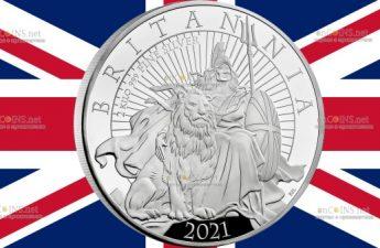 Великобритания монета 1000 фунтов Британия