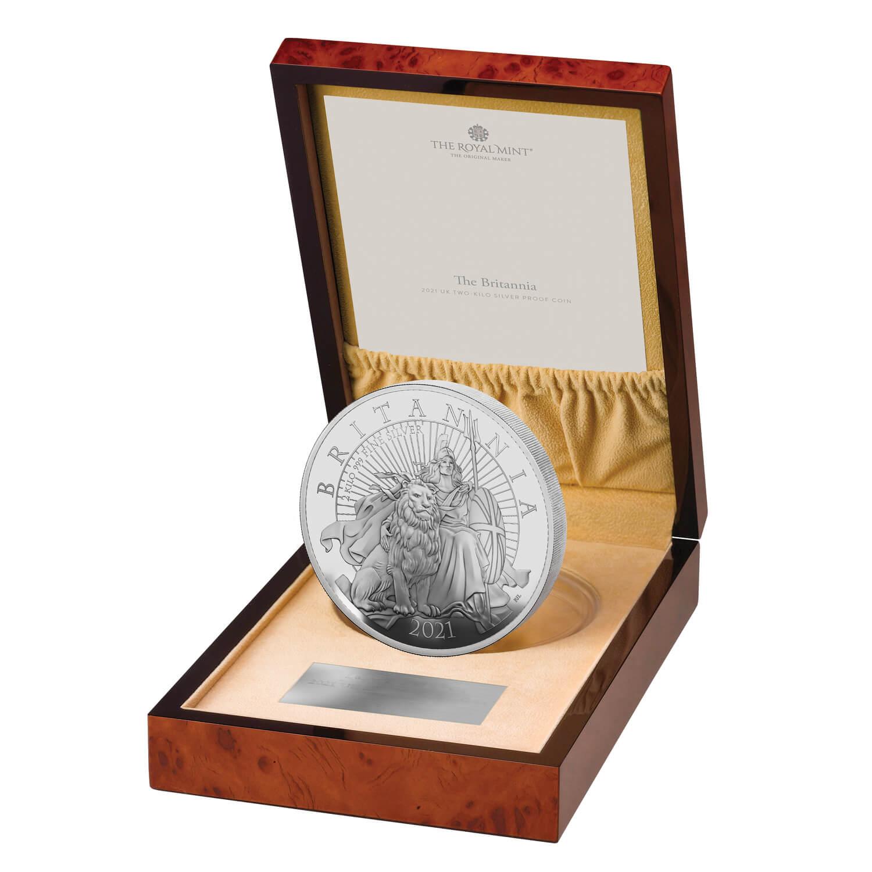 Великобритания монета 1000 фунтов Британия, подарочная упаковка