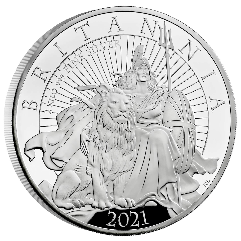 Великобритания монета 1000 фунтов Британия, реверс