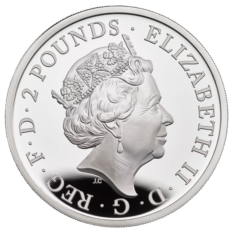 Великобритания монета 2 фунта 2021 год, аверс