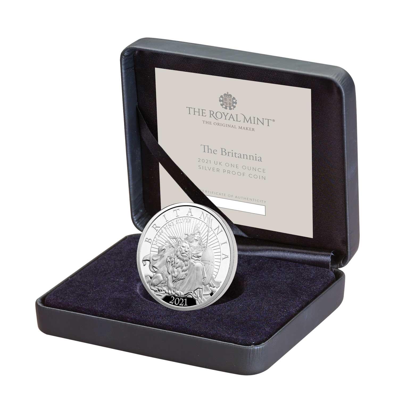 Великобритания монета 2 фунта Британия, подарочная упаковка