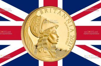 Великобритания монета 200 фунтов Британия