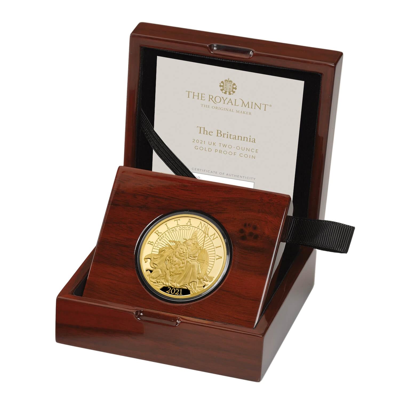 Великобритания монета 200 фунтов Британия, подарочная упаковка