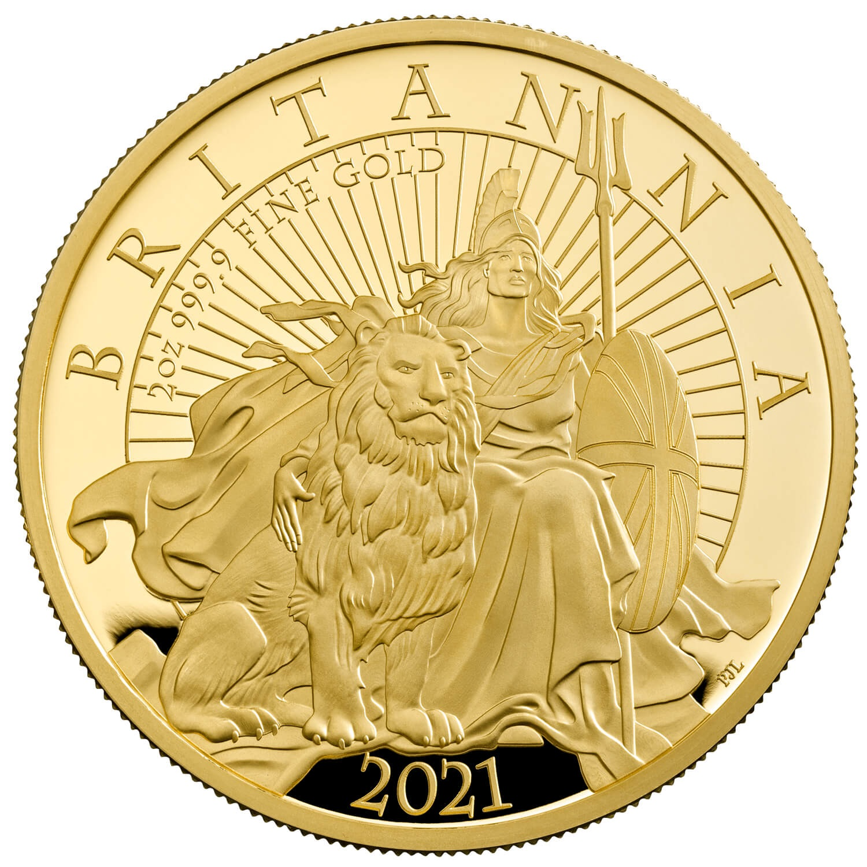Великобритания монета 200 фунтов Британия, реверс