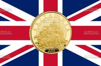 Великобритания монета 25 фунтов Британия