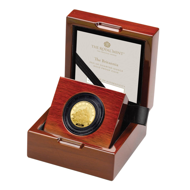 Великобритания монета 25 фунтов Британия, подарочная упаковка