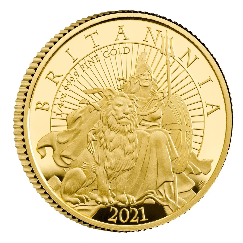 Великобритания монета 25 фунтов Британия, реверс