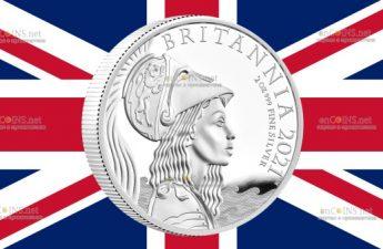 Великобритания монета 5 фунтов Британия