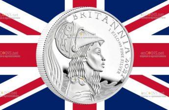 Великобритания монета 500 фунтов Британия