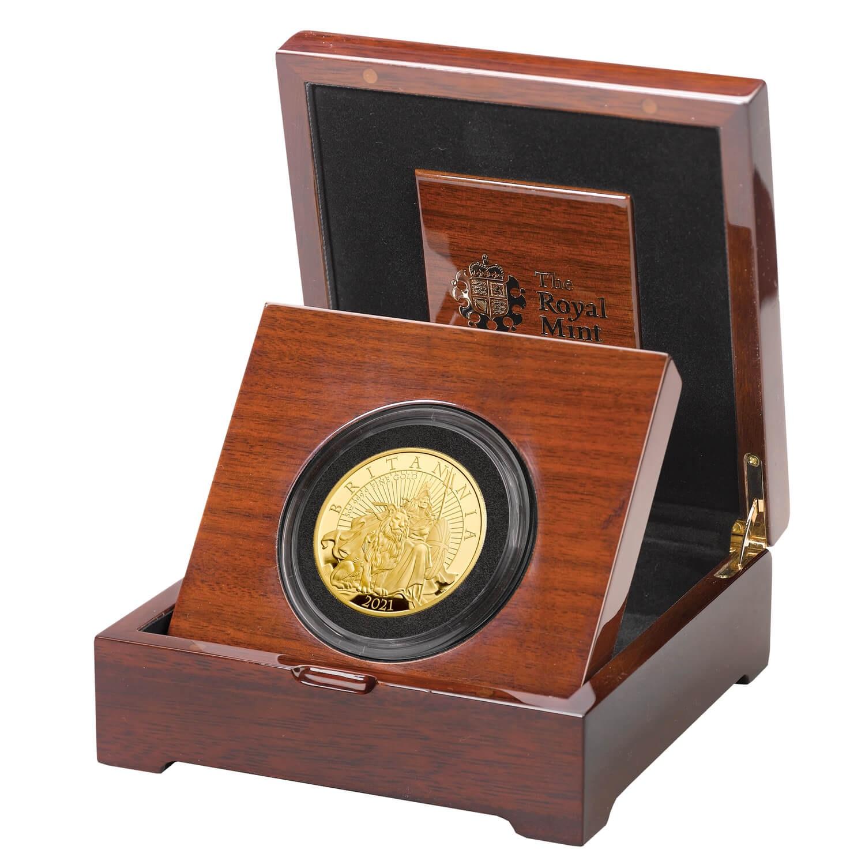 Великобритания монета 500 фунтов Британия, подарочная упаковка